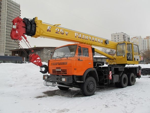 Фото №2:Автокран Галичанин КС-55713-1В с гуськом